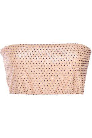 Cynthia Rowley Rhinestone mesh top