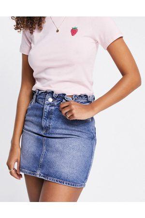 Miss Selfridge Frill top denim skirt in blue