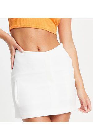 AsYou High waisted mini skirt in ecru-White