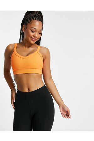 South Beach Rib light support sports bra in orange