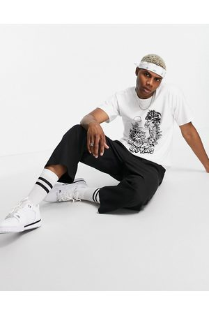 Huf Vacation UV reactive t-shirt in white