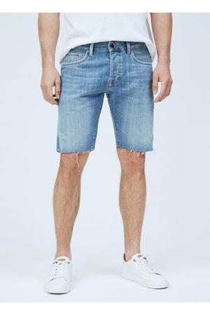 Pepe Jeans Muži Šortky - Pánské modré džínové šortky Stanley