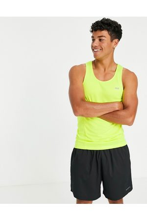 ASOS Icon training vest with racer back in yellow