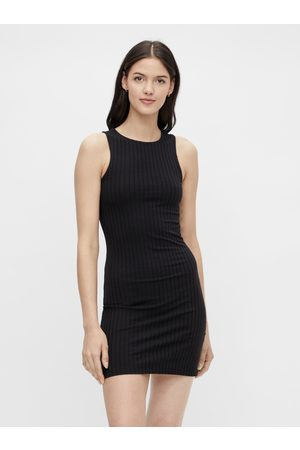 Pieces Černé pouzdrové šaty Tiana