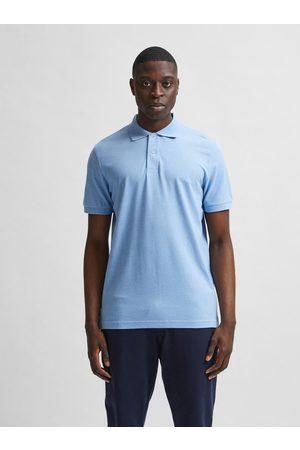 SELECTED Světle modré polo tričko Neo