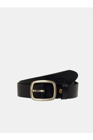 Only & Sons Černý kožený pásek Cody