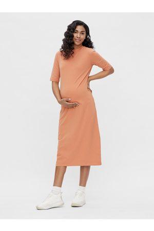 Mama Licious Oranžové těhotenské midišaty Sia