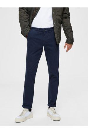 SELECTED Tmavě modré slim fit kalhoty Miles