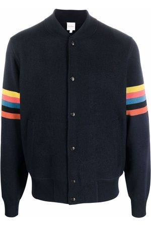 Paul Smith Stripe-detail knitted bomber jacket