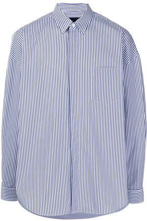 Juun.J Striped long-sleeve shirt