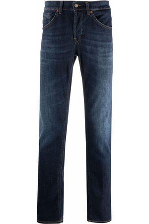 Dondup Muži Rovné nohavice - Mid-rise straight-leg jeans