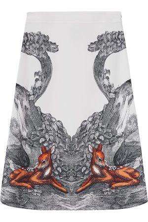 Burberry Deer sketch printed skirt