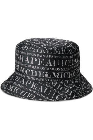 Maison Michel Logo print bucket hat