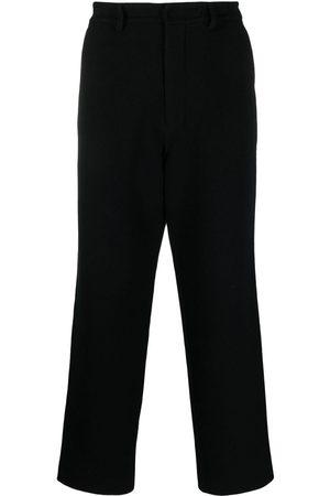 AMI Paris Elasticated-waist straight-leg trousers