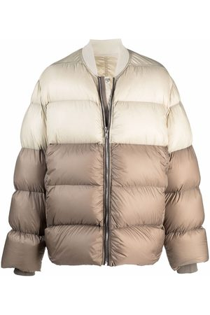 Rick Owens Two-tone puffer jacket