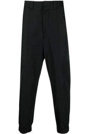 AMI Paris Elasticated-ankles trousers
