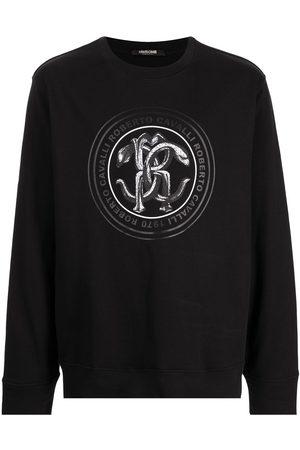 Roberto Cavalli Muži S dlouhým rukávem - Mirror snake-print T-shirt