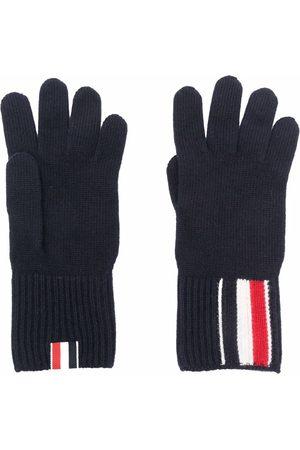 Thom Browne Muži Rukavice - RWB stripe merino wool gloves