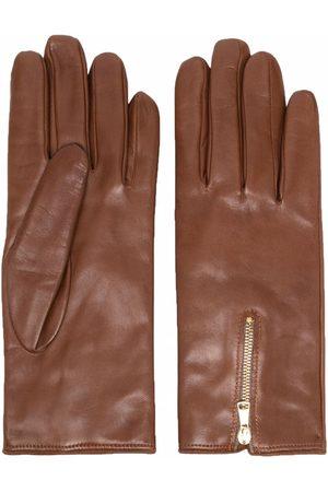 ELEVENTY Zip-detail gloves