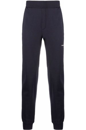 Calvin Klein Embroidered-logo tapered joggers
