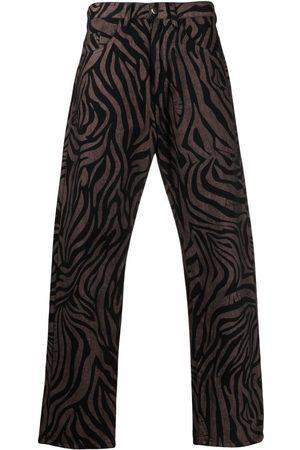 Aries Tiger-print straight-leg jeans