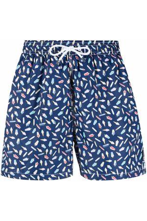 Hackett Muži Šortky - Ice cream-print swim shorts