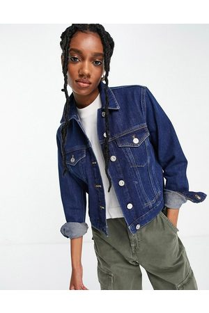 French Connection Denim jacket in mid blue wash