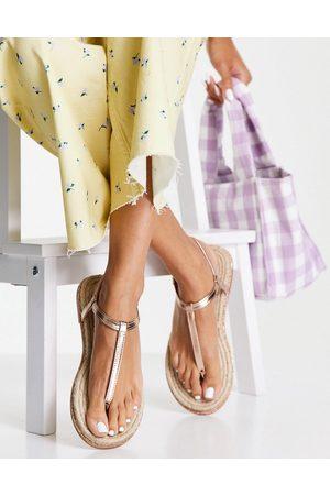ASOS DESIGN Ženy Espadrilky - Jazmina diamante espadrilles sandals in rose gold