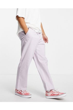 ASOS DESIGN Wide fit chinos in lilac-Purple