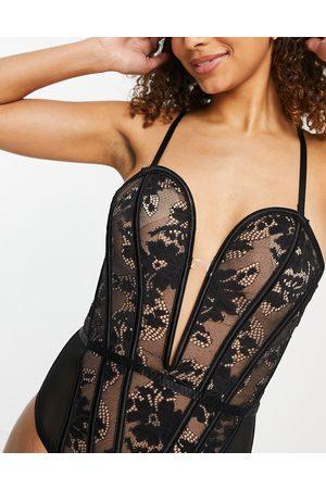 Ann Summers Lingerie the luxe bodysuit in black