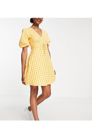 Influence Mini tea dress in yellow gingham