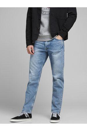 Jack & Jones Světle modré straight fit džíny Chris