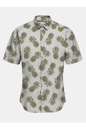Only & Sons Zeleno- vzorovaná košile s krátkým rukávem Kaspar