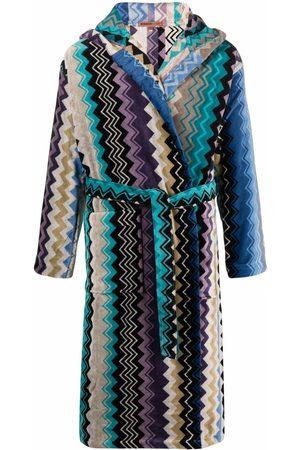 Missoni Home Zig-zag color-block robe