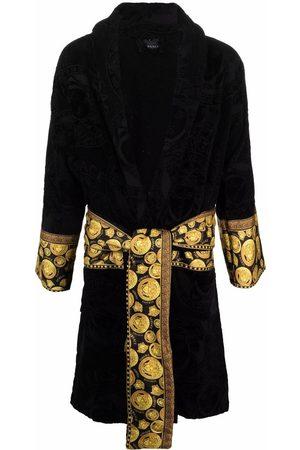 Versace Medusa-print belted robe