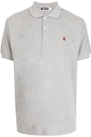 A Bathing Ape Logo-patch short-sleeved polo shirt