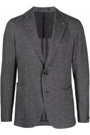 Tagliatore Stripe-print single-breasted blazer
