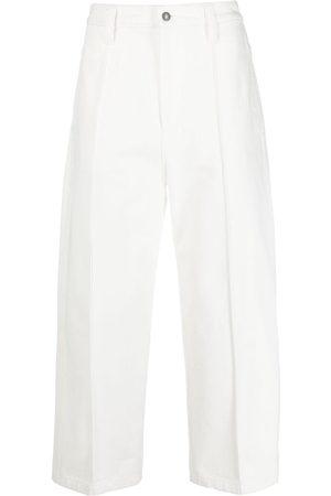 Ami Pleat detail wide-leg jeans