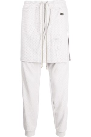 Rick Owens X Champion Layered-look jersey track trousers