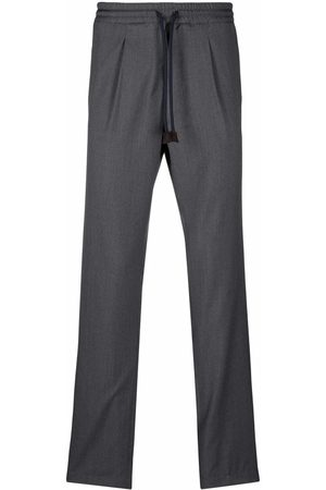 Fedeli High-waisted drawstring trousers