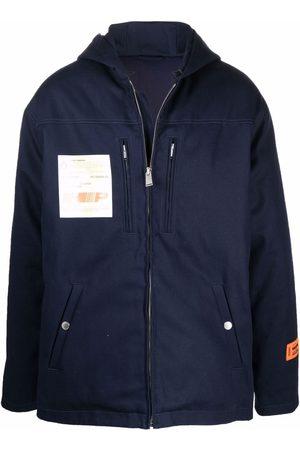 Heron Preston Muži Pláštěnky - Patch-detail hooded jacket