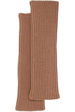 MA'RY'YA Knitted-wool arm warmers