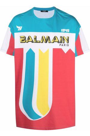Balmain Logo-print colour-block T-shirt