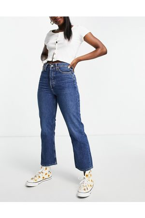 Topshop Ženy Bootcut - Dree bootcut jean in mid blue