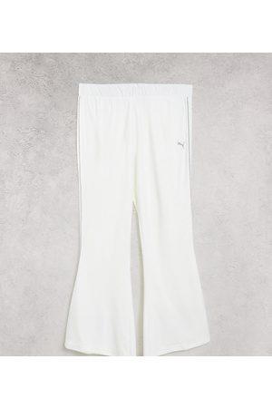 PUMA Icons 2.0 fashion wide leg pants in white