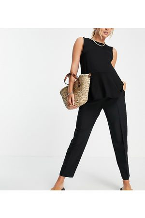ASOS Maternity ASOS DESIGN Maternity tailored smart tapered trousers in black