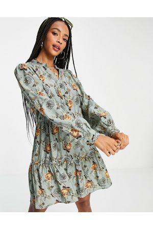 Object Ženy Volnočasové - Bina floral mini dress in blue multi