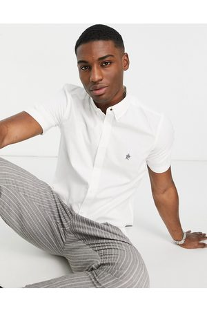 French Connection Short sleeve oxford shirt in white