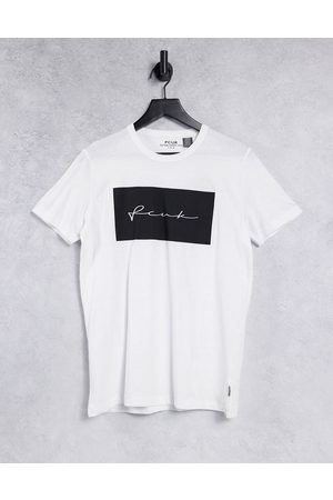 French Connection FCUK print block t-shirt in white