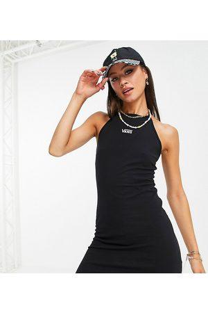 Vans Logo halterneck dress in black Exclusive at ASOS